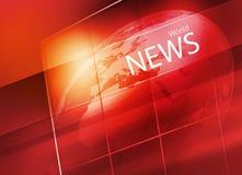 Globo della terra dentro il grande fondo di schermo piano della TV Immagini Stock Libere da Diritti
