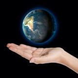 Globo della terra a disposizione Immagine Stock Libera da Diritti