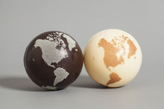 Globo della terra due Immagine Stock