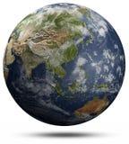 Globo della terra - l'Asia ed Oceania Fotografia Stock