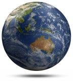 Globo della terra - l'Australia ed Oceania Fotografie Stock Libere da Diritti