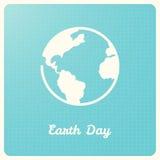 Globo della terra sul fondo blu del grafico Segno di giornata per la Terra Immagine Stock