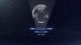 Globo di dati di Digital - illustrazione astratta di una tecnologia scientifica Rete di trasmissione di dati Pianeta Terra circon royalty illustrazione gratis