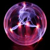 Globo di energia, con la mano Fotografie Stock