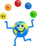 Globo di lotteria Fotografie Stock Libere da Diritti