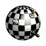 Globo di plastica di scacchi Immagine Stock