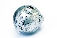 Globo di puzzle Fotografie Stock Libere da Diritti