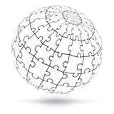 Globo di puzzle di vettore 3D Fotografie Stock Libere da Diritti