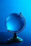 Globo di vetro blu Fotografie Stock