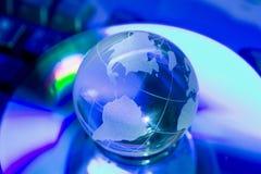 Globo di vetro del mondo Fotografie Stock Libere da Diritti