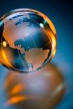 Globo di vetro della terra del pianeta Fotografie Stock