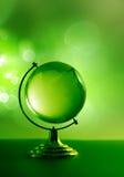 Globo di vetro verde Fotografia Stock Libera da Diritti
