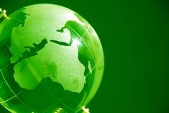 Globo di vetro verde Immagini Stock