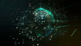 Globo digital abstracto ilustración del vector