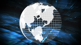 Globo digital de gerencio no assoalho 3d ilustração do vetor