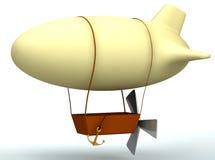 globo dirigible de la historieta 3d Foto de archivo libre de regalías
