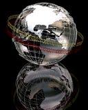 globo do cromo 3d ilustração stock