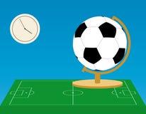 Globo do futebol Fotografia de Stock