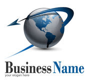 Globo do logotipo Foto de Stock
