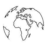 Globo do mapa da terra do planeta foto de stock