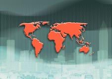 Globo do mapa de mundo ilustração royalty free