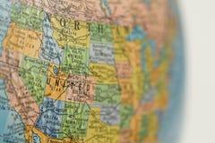 Globo do mapa dos EUA Fotografia de Stock