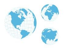 Globo do mundo, azul Imagem de Stock Royalty Free