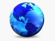 Globo do mundo da cor do Aqua Foto de Stock Royalty Free