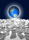 Globo do mundo desembalado Fotografia de Stock Royalty Free