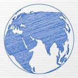 Globo do mundo do desenho Fotos de Stock
