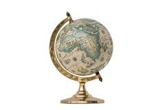 Globo do mundo do estilo antigo - isolado no branco Imagem de Stock Royalty Free