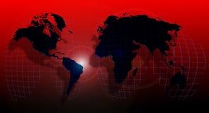 Globo do mundo em um grid2 ilustração royalty free