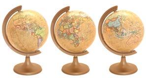 Globo do mundo na língua polonesa imagens de stock royalty free