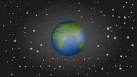 Globo do mundo no vídeo de movimento ilustração stock