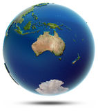 Globo do mundo - Oceania Imagens de Stock Royalty Free