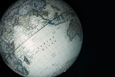 Globo do mundo - Oceano Índico Fotografia de Stock Royalty Free