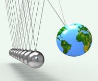 Globo do mundo que mostra a conservação mundial global Foto de Stock