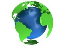 Globo do planeta da terra 3d rendem Opinião de América Fotos de Stock