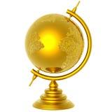 Globo dorato Fotografie Stock Libere da Diritti