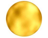Globo dorato Fotografia Stock