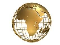 Globo dorato Fotografia Stock Libera da Diritti