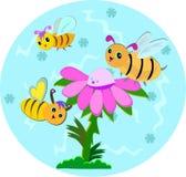 Globo dos peixes com espirais e plantas Imagem de Stock Royalty Free