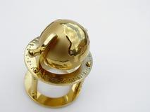 Globo dourado fotos de stock royalty free