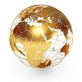 Globo dourado Imagens de Stock Royalty Free