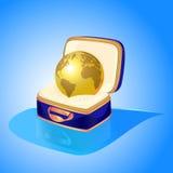 globo dourado caso que Foto de Stock
