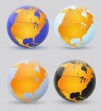 Globo e America do Norte. ilustração do vetor