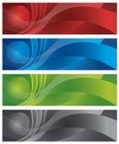 Globo e bandiere digitali di semitono Fotografie Stock