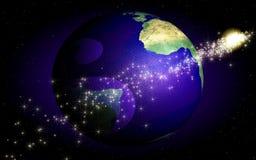 Globo e estrelas Imagens de Stock Royalty Free