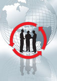 globo e grafico Immagine Stock