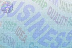 Globo e letra da palavra do negócio Fotos de Stock Royalty Free